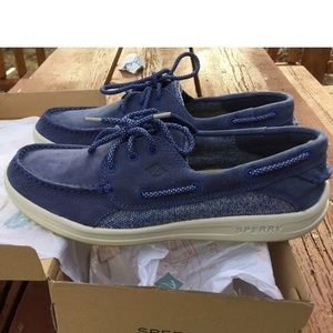 NEW Men 10.5 Sperry Gamefish 3 Eye Boat Shoes Navy